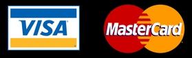 Aceptamos pagos con tarjeta VISA y Mastercard